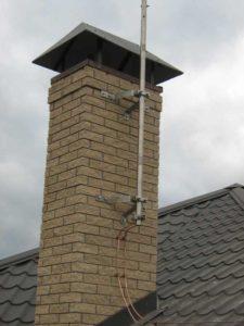 Внешняя защита от ударов молний частного дома