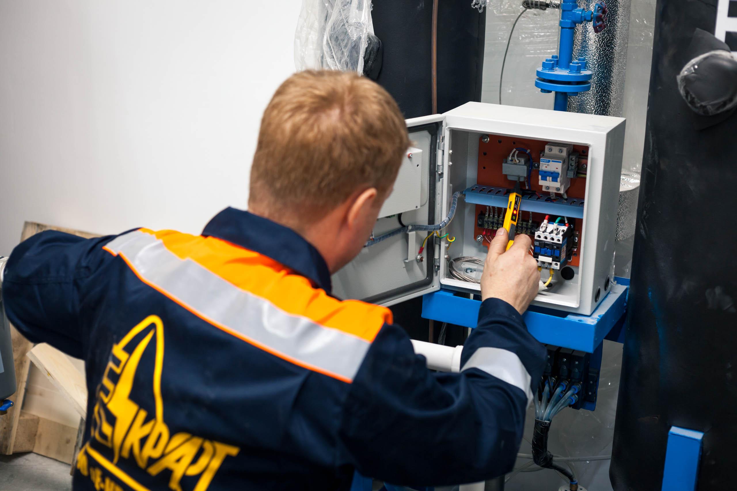 Электромонтажные работы на производстве сухих смесей