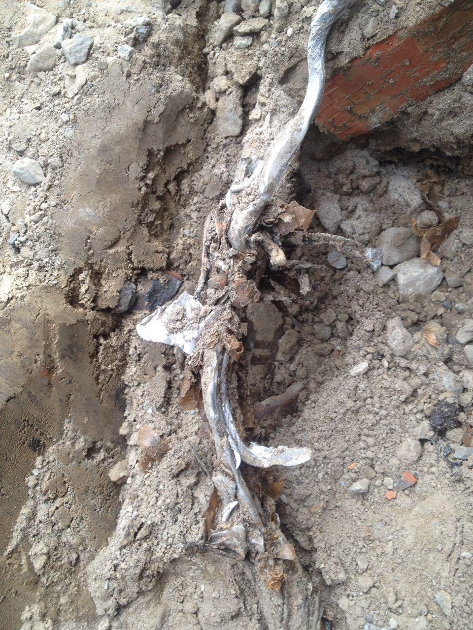 Устранение повреждения кабеля