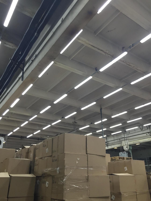 Монтаж освещения склада в г. Новосибирск